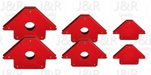 6 Pc Set New Magnetic Magnet Welding Arrows 25 50 75 Lb
