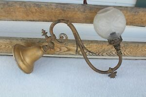 Antique Wall Sconce Gasolier Old Gas Sconce With Ball Shade Not Electrify