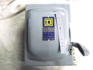 New Vintage Usa Made Square d 30 Amp Heavy Duty Safety Switch With Box