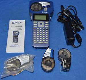 Brady Bmp21 Label Maker With Case Power Cord 3 Cartridges