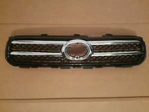 Fits 2006 2008 Toyota Rav4 Limited Front Bumper Upper Black Grille W Chrome New