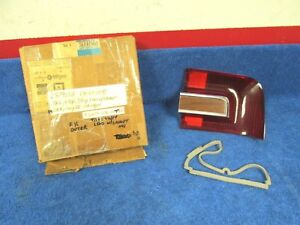 1968 Plymouth Fury Iii Station Wagon Rh Outer Tail Light Lens Nos Mopar 1217