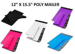 12x15 5 Poly Mailers Shipping Envelopes Self Sealing Plastic Mailing Bags Color