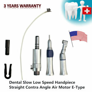 Nsk Style Dental 2 hole Slow Low Speed Handpiece Straight contra Angle air Motor