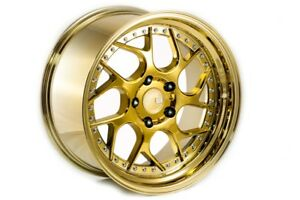 19x10 5 Gold Vacuum Aodhan Ds01 5x120 25 Wheels Set Of 4
