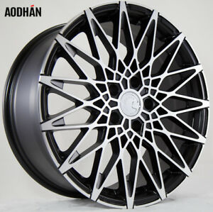 18x9 0 Black Machined Face Aodhan Ls001 5x100 30 Wheels Set Of 4