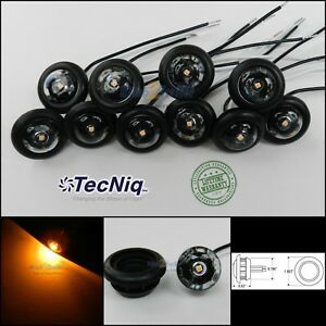 10 Tecniq Clear Amber 3 4 Led Bullet Lights Clearance Marker Trailer Truck Usa