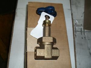 Nibco T 174 a 1 2 Threaded Bronze Gate Valve