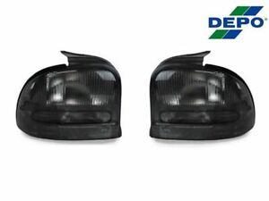Depo Pair Of All Smoke Rear Tail Lights For 1995 1999 Dodge plymouth Neon