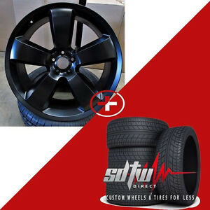 22 Srt 8 Style Matte Black Wheels W tires Fits Dodge Magnum Charger Challenger