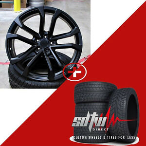 22 Zl1 Style Satin Black New Wheels Rims Tires Fits Chevy Camaro Rs Ss Zl1