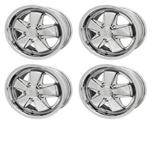 911 Alloy Wheels All Chrome 6 Wide 5 On 130mm Dunebuggy Vw