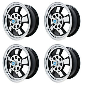 Riviera Wheels Black With Polished Lip 5 5 Wide 4 On 130mm Dunebuggy Vw