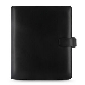 Filofax A5 Metropol Organiser Planner Notebook Diary Black Leather 026968 Gift