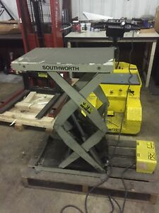 Southworth Ls1 30 Hydraulic electric Lift Table 1000 Will Ship