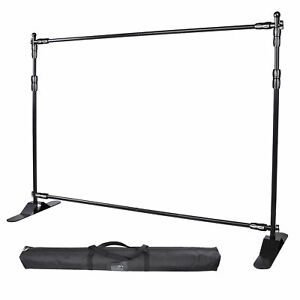 8 Telescopic Step And Repeat Banner Backdrop Stand Adjustable Photo Display