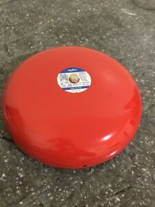 Amseco Exb 10 pv4 Red Fire Alarm Bell 12vdc 0 12a