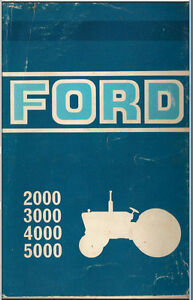 Ford Tractor Service Manual 1965 1975 Series 2000 3000 4000 7000 Pdf On Cd