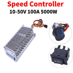 10 50v 100a 5000w Programable Reversible Pwm Dc Motor Speed Controller Driver Lj