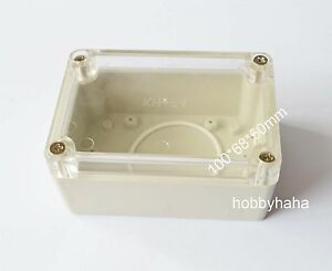 8pcs Clear Electrical Instruments Plastic Box 100 68 50mm Diy