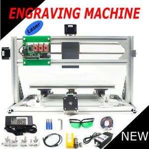3 Axis 3018 Grbl Control 500mw Laser Diy Cnc Router Milling Engraving Machine