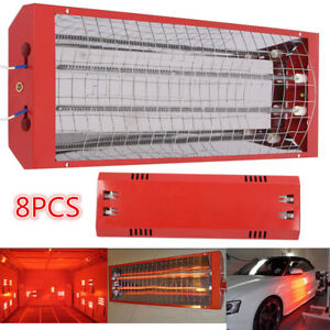 8 Kit 2kw Infrared Lamp Car Paint Spray Baking Booth Drying Heating Light Heater