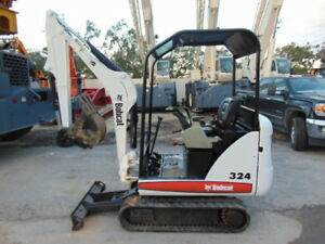 2012 Bobcat 324 mini Excavator 3 400 Lbs 2 Speed W Blade Only 1 591 Hours
