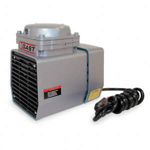 Gast Compressor Vacuum Pump 1 3 Hp 60 Hz 115v Doa v751 fb Oilless Diaphram h1