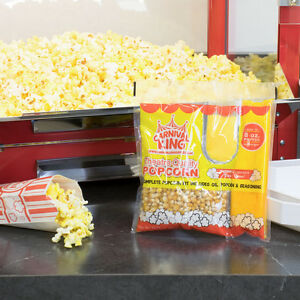 Carnival King All in one Popcorn Kit For Use In Poppers 8 Oz Or Larger
