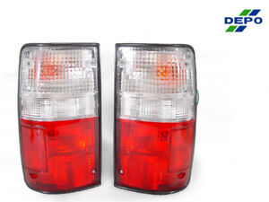 Depo Pair Of Red Clear Tail Lights For 1989 1995 Toyota Pickup Truck 2wd 4wd