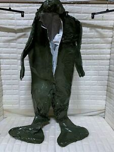 Protective Suit Lakeland Chemical Suit 40165 Fit Hood Chemmax 4 With Hood Boots