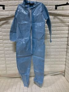 Lakeland Protective Coverall Suit 37417 Elas Wr Ank Stm Flap Crfr Material