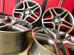 Mercedes 20 In Gunmetal Edt Ml63 New Rims Set4 Fits Ml350 Ml550 Gl450 Gl550 Amg