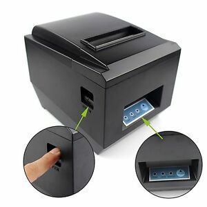 80mm Pos Dot Receipt Paper Barcode Thermal Printer Usb Port 300mm s Auto Cut Pro