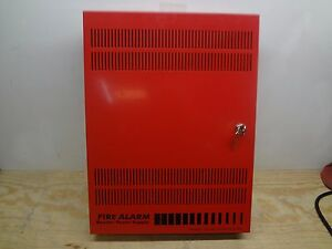 Edwards Est Bps10a Fire Alarm Aux Booster Power Supply Box W keys Box Only