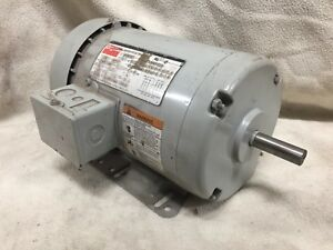 3no17 Dayton 1 Hp 3q 56h 1755 Rpm Tefc 208 230 460 Electric Motor