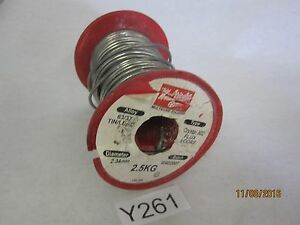 63 37 Tin lead Crystal 502 Flux 2 34mm Diameter Soldering Solder Wire 2kg Spool