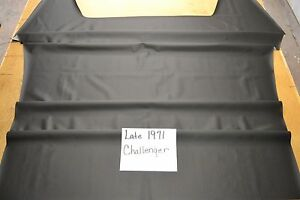 1971 71 Late Dodge Challenger Black Perforated Headliner 4 Bow Usa Made