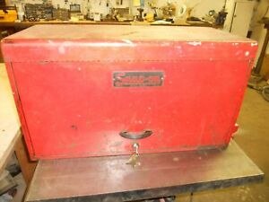 Vintage Snap On 6 Drawer Red Tool Chest Box 1940 S 1950 S