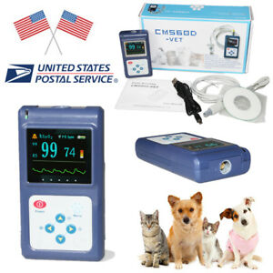 Usa Fda Veterinary Pulse Oximeter Vet Tongue ear Clip Probe Oled Usb Pc Software