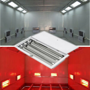 2 Kits 3kw Spray Baking Booth Infrared Paint Dryer Lamp 3 Row Heating Light 220v
