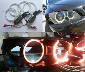 4x Excellent Red Ccfl Angel Eyes Halo Rings For Toyota Altezza Sxe10 Gita Japan