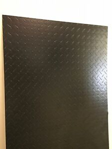 Painted Black Aluminum Diamond Plate Sheet 24 X 49