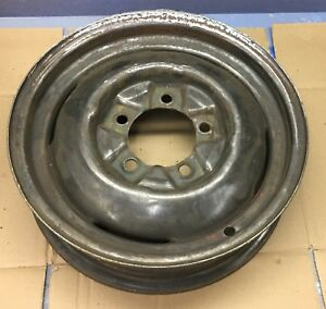 16 X 4 5 5x5 5 Pattern Vintage Steel Rim Wheel Perfect For Ford Or Hot Rod