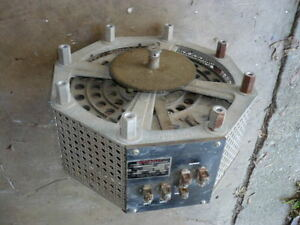 Variable Transformer Variac 120 240 Volts In 0 240 Volts Out 28 Amps