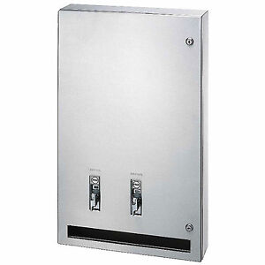 Bradley Napkin tampon Dispenser 25 Surface Mount Stainless Steel