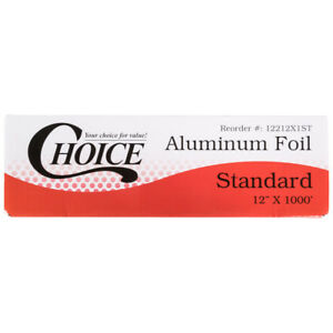 Choice 12 X 1000 Food Service Standard Aluminum Foil Roll Reynolds Wrap