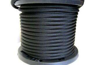 1 2 250 Ft Bungee Shock Cord Black Marine Grade Heavy Duty Shock Rope Tie Down