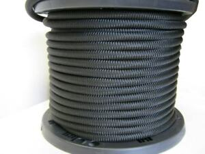 1 2 1000 Ft Bungee Shock Cord Black Marine Grade Heavy Duty Shock Rope Tie Down