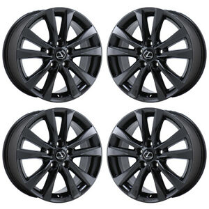 17 Lexus Es350 Black Chrome Wheels Rims Factory Oem Set 4 74224 Exchange